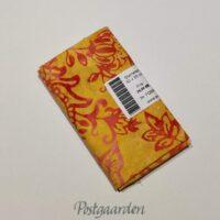 FQ6995 6995 Gul med orange pink blomster Bali/Batik patchwork