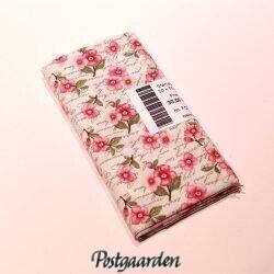 FQ7123 Råhvid med skrift og blomster