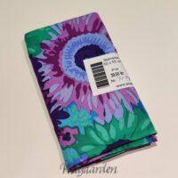 FQ7194 - Grøn/Lilla blomster patchworkstof fat quarter 50 x 55 cm