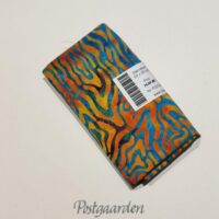FQ7223 Tyrkis patchworkstof med orange mønster bali batik fat quarter