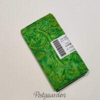 FQ7224 7224 Limegrøn med blade i bali batik Patchwork stof