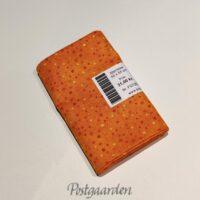 FQ7262 Orange patchworkstof med prikker fat quarter