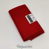 FQ7398 - Rød patchworkstof m. prikker