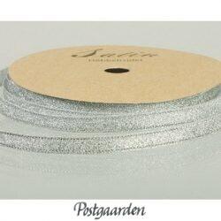 Metallicbånd 6 mm sølv
