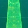 10 grader lineal i neon i størrelse 22½