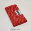 FQ7168 Orange patchworkstof med rødt blad