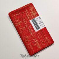 FQ7352 7352 - Rød m. guld streger patchwork stof fat quarter