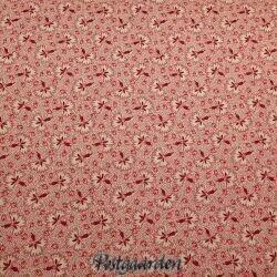 råhvid med rødt mønster