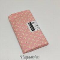 FQ7121 - Pink Rosa patchworkstof med hvid blomst