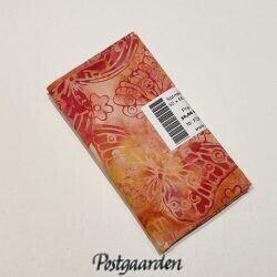 FQ6465 6465 Laksefarvet bali batik patchworkstof med sommerfugle patchworkstof