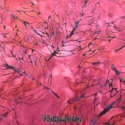 Lilla bali batik patchworkstof med blade