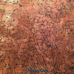 Gylden bali Batik patchworkstof med mønster