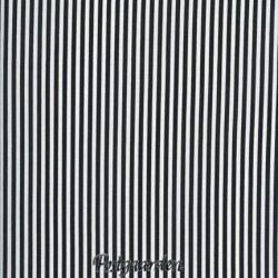 6908 Sort hvid smal stribet patchworkstof