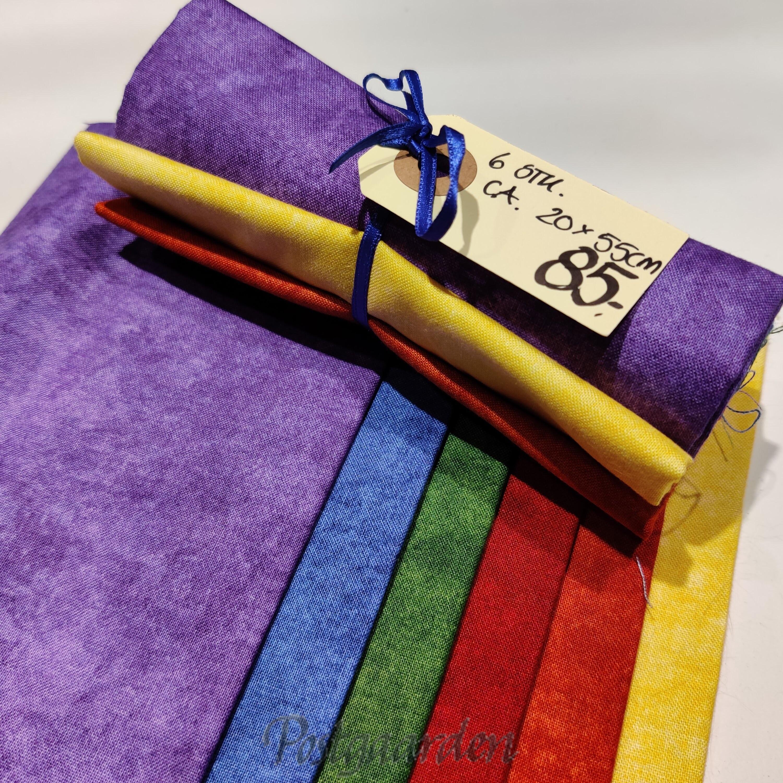 Stofpakke i regnbue farver