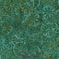 7469 Tyrkis med hjul bali batik