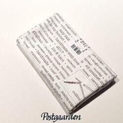 FQ7478 Råhvid med sting skrift