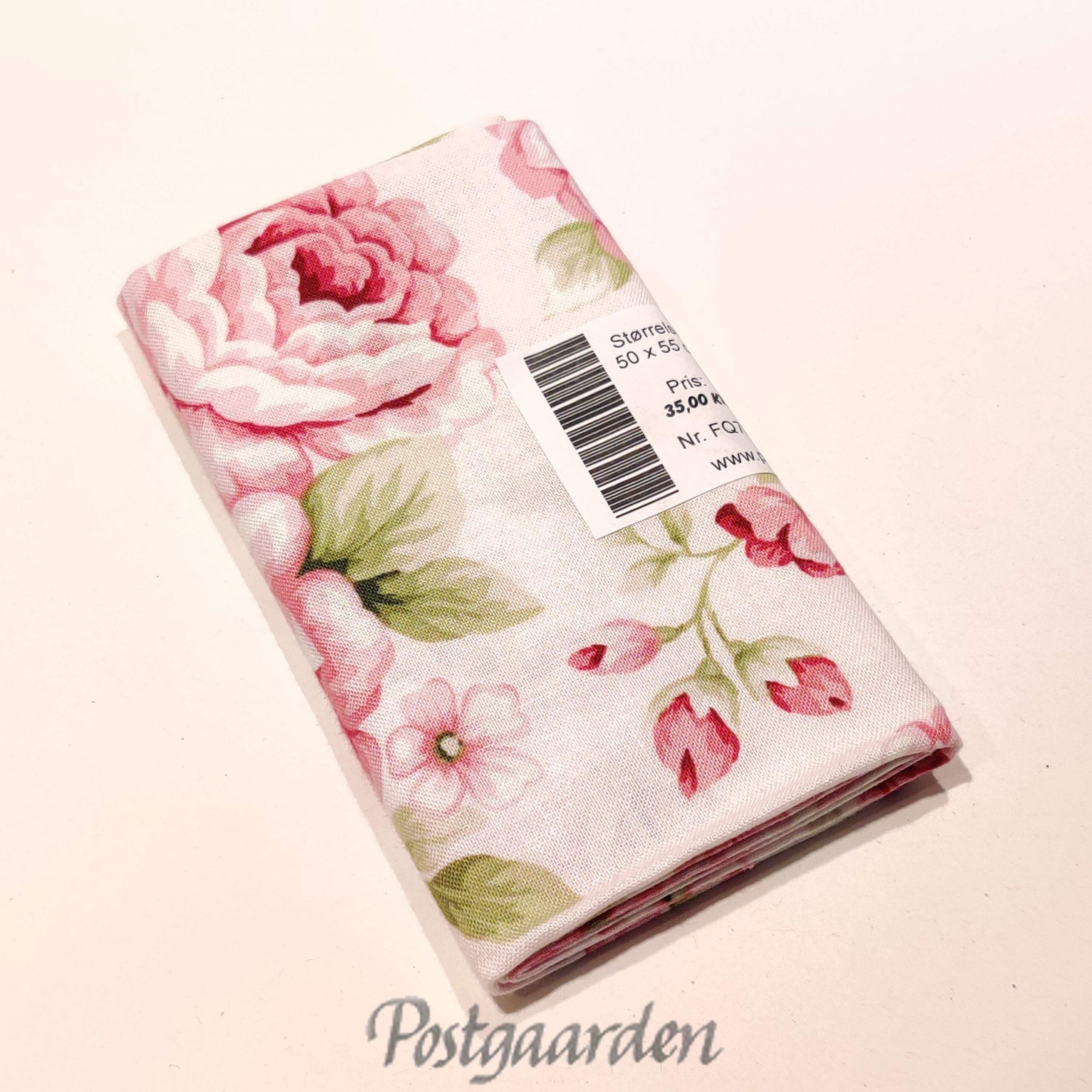 FQ7061 Lyserød med store roser