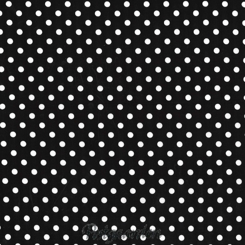 6858 Sort patchworkstof med prikker