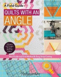11297 quilts with an angle bog med udskæring af vinkler og spændende modeller
