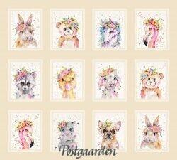7510 Panel med skønne dyr