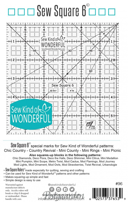 "6"" lineal fra Sew kind of Wonderful"