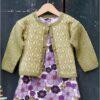 893459 Mønsterstrikket babytrøje i Esther by permin