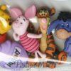 JJ7729 Winnie the Pooh - Peter plys, Æslet, Grisling og tigerdyret - knapper