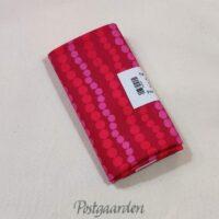 FQ7529 Pink patchworkstof med prikker i striber fat quarter