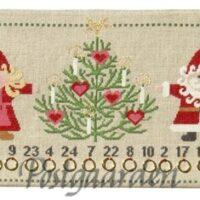 78-0166 julefamilie med juletræ broderi kit fra Fru Zippe