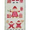 780152 Julekalender julefamilie broderikit Fru Zippe