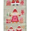 780153 Adventskalender julefamilie broderikit Fru Zippe