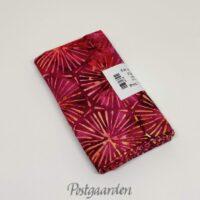 FQ7536 Pink patchworkstof med blomst i sekskant Bali batik