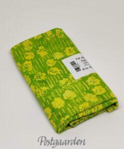 FQ7535 Vårgrøn patchworkstof med blomster bali batik