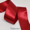 Mørk rød 37mm satinbånd