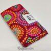 Rød patchworkstof med mosaic blomster Kaffe Fassett