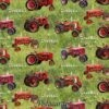 7558 Farmall traktorer patchworkstof