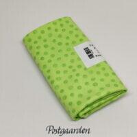 FQ7560 Lys grøn med prikker patchworkstof