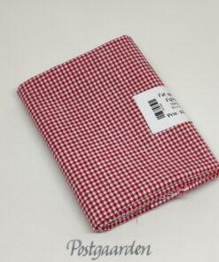 Rød hvid mini tern patchworkstof