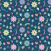 7589 Blå med små blomster patchworkstof