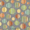 7588 Grå med stribede cirkler patchworkstof