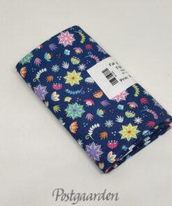 FQ7589 Blå med små blomster patchworkstof