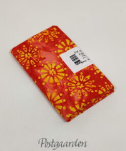 FQ7592 Orange med gule blomster Bali/batik patchworkstof