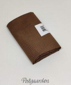 FQ7595 Mellem brun med prikker patchworkstof