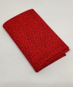 FQ7602 Rød med snirkler patchworkstof