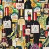 7610 Vinflasker patchworkstof