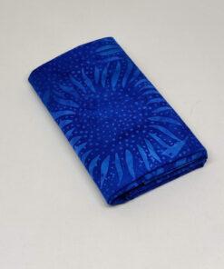 FQ7611 Blå med solsikker bali batik patchworkstof