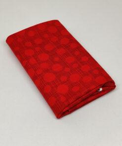 FQ7614 Rød med streger og prikker patchworkstof
