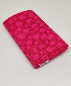 FQ7613 Pink med streger og prikker patchworkstof