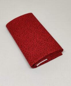 FQ7626 Rød m. mini frøstande patchworkstof